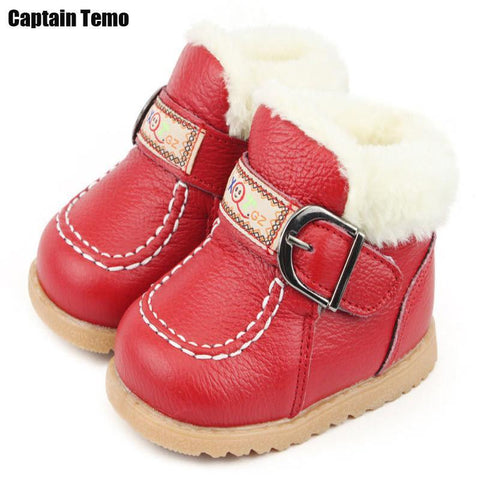 Girls' Winter Boots genuine leather warm shoes 6-24 month - Gkandaa.net