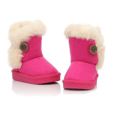 Girls' Winter Boots Brown Plush With shoe cotton fabric 21-35 - Gkandaa.net