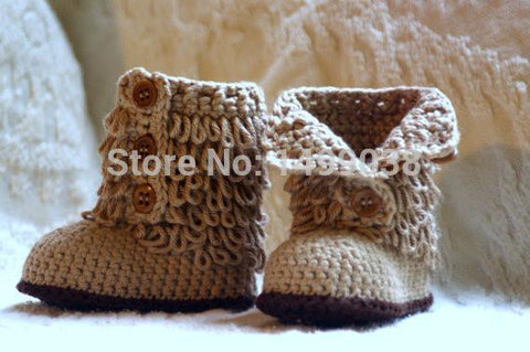 Baby Shoe Crochet baby shoes Boot froze shoes-GKandaa.net