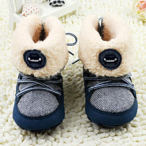 Boys Shoes winter Snow Boots Lace Up Soft Sole Toddler Kid-GKandaa.net