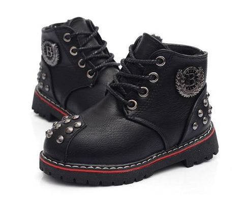 Girls' Winter Boots warm snow leather Casual Plush footwear shoe-GKandaa.net