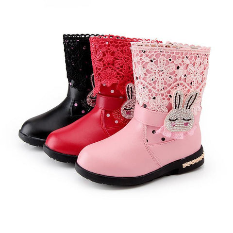 Girls' Winter Boots pu leather snow warm waterproof 1065-GKandaa.net