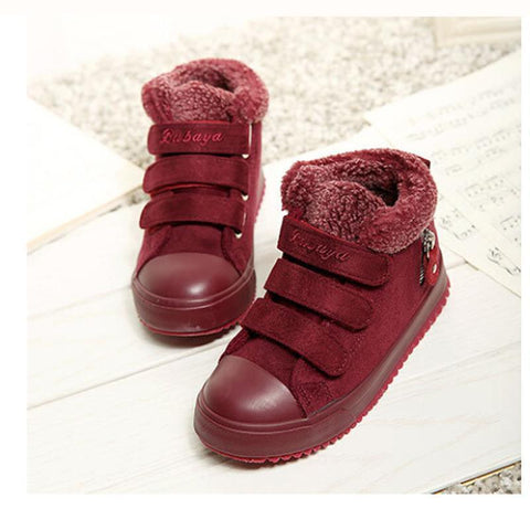 Girls' Winter Boots warm Leather Children Unisex-GKandaa.net