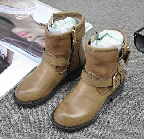 Girls' Winter Boots Fashion leather-GKandaa.net