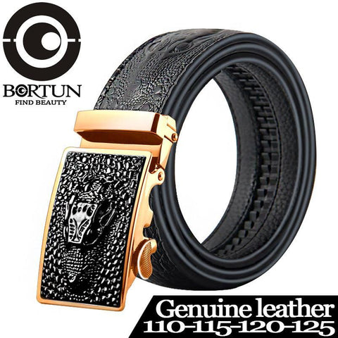 Men's Belts Automatic 110-125cm genuine leather-GKandaa.net