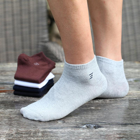 Men's Socks Summer 100% cotton Casual Ale Male Low 6pairs/-GKandaa.net