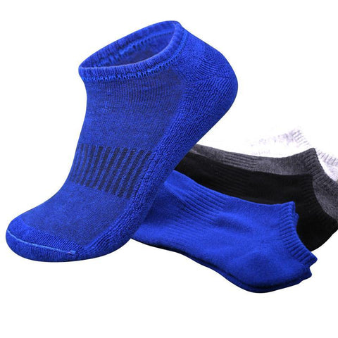 Men's Socks Summer Sport Solid Color Towel 5pairs=1-GKandaa.net