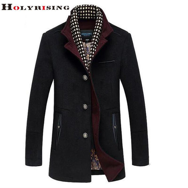 Men's Jackets Coats Luxury Wool Coats-GKandaa.net