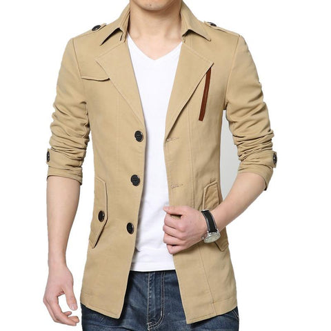 Men's Coats Jackets Plus Velvet Solid Male Casual outerwear-GKandaa.net