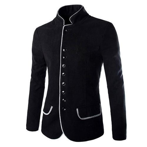 Men's Jackets Wool Coat Slim Fit cotton-GKandaa.net