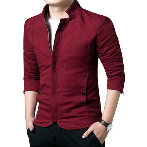 Men's Jackets Solid Color Color Casual Popular Long Sleeve Outwear-GKandaa.net