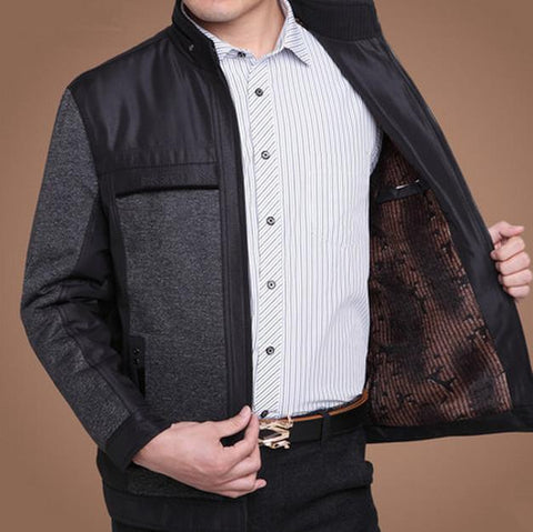 Men's Jackets Winter Plus Velvet Outdoor Casual Coat Large size-GKandaa.net