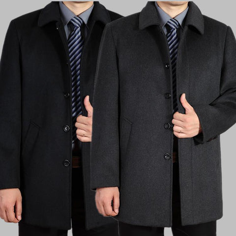 Men's Coats Jackets medium-long cashmere large outerwear winter trench-GKandaa.net