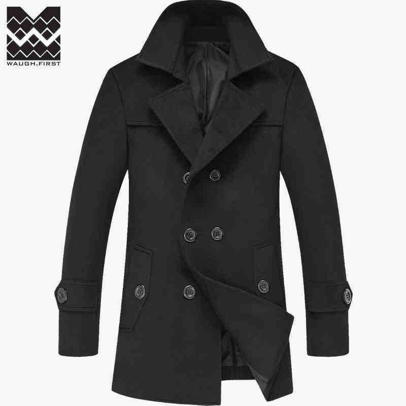 Men's Coats Jackets Winter Long Wool-GKandaa.net