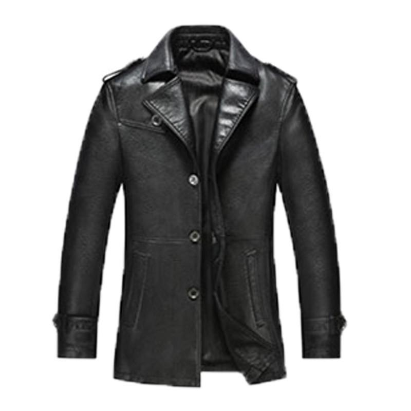 Men's Leather Jacketscasual long-GKandaa.net