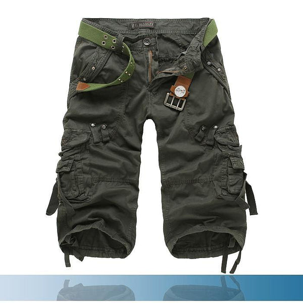 Men's Shorts Summer Calf cotton Casual Military Army Tactical Cargo - Gkandaa.net