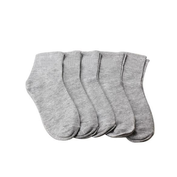 Men's Socks 5 Pair Ale cotton Low Cut Size Grey-GKandaa.net