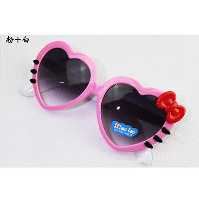 Children's sunglasses Outdoor Love Heart-shaped Cute Glass Goggles-GKandaa.net
