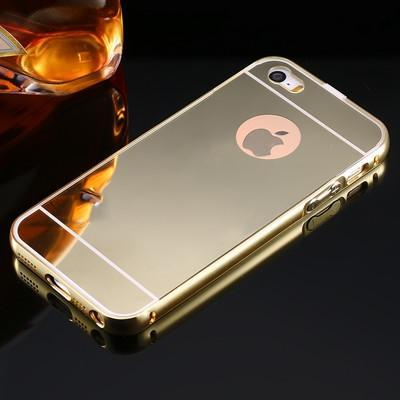 Case Cover for iPhone 5 5S SE Mirror Ultra Metal Frame 5 5S SE-GKandaa.net