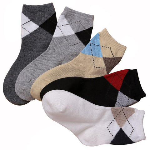 Boys Socks Casual cotton 5pairs/ 3-12T-GKandaa.net