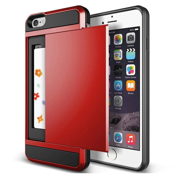 Case Cover for iPhone Luxury Slim Hybrid Credit Card pocket wallet-GKandaa.net