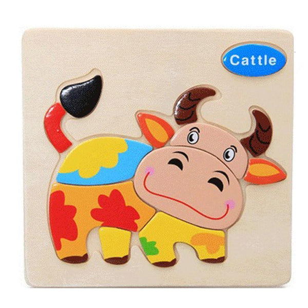 Wooden Baby Toys 1pcs colorful Picture Puzzle-GKandaa.net