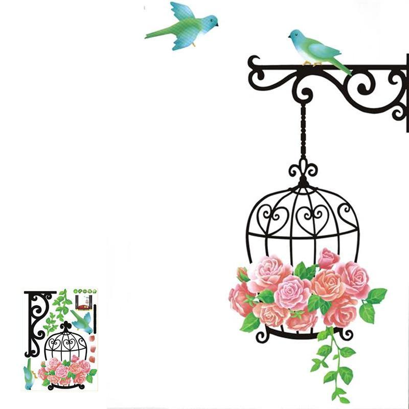Plane Wall Sticker Cage bird Window Vinyl-GKandaa.net