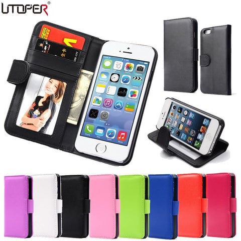 Case Cover for iPhone Wallet Flip PU Leather 4 4S 4G Magnetic-GKandaa.net