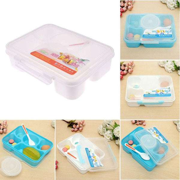 100% Brand New Portable Microwave Bento Lunch Box 5+1 Food Container Storage Box 2 Styles - GKandAa