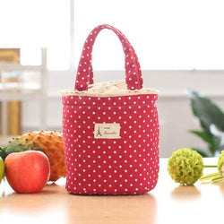 Lunch Bags Round Thermal Insulated Lunch Box Cooler Bag Tote Bento Pouch Lunch Container - GKandAa - 1