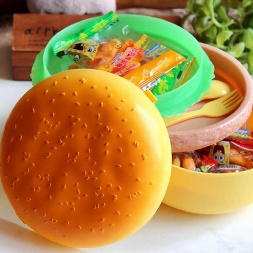 Lunch Box Double Storage with Spoon Container-GKandaa.net