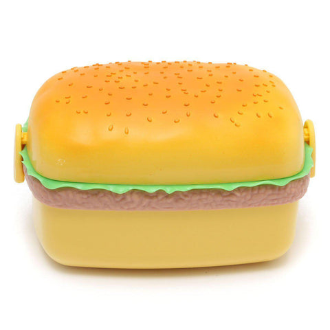 Lunch Box Hamburger Shaped Outdoor Picnic Container Storage-GKandaa.net