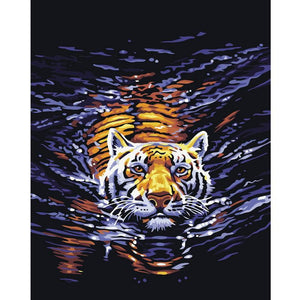 Art Oil Painting DIY Tiger home-made No Frame-GKandaa.net
