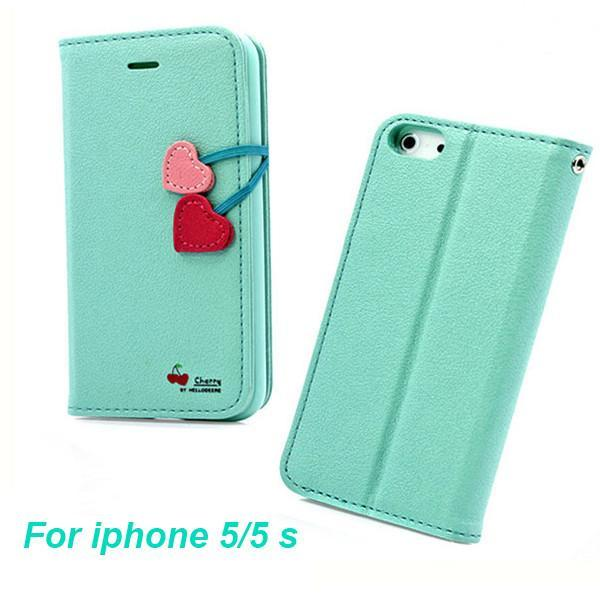 Case Cover for iPhone 5 Flip leather 5 5S SE 5G 5C 4S 4 Card S Holster-GKandaa.net