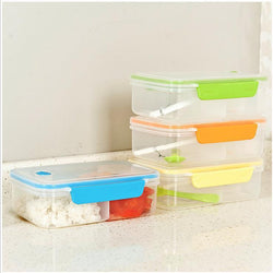 lunch box for kids Korean Style Solid color Fully Sealed Food 3-compartment - GKandAa