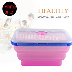 20x13cm Microwave Silicone Lunch Box Portable Dinnerware - GKandAa