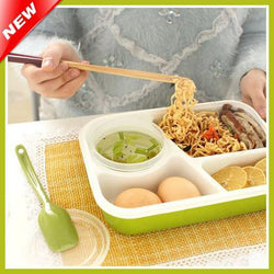4 Compartments Bento Lunch Box Set Lady Microwaveable Bento Box For Adults Food Container - GKandAa