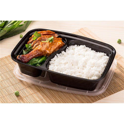 2 Compartment Reusable Plastic Food Lunch Box Bento - GKandAa