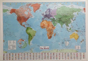 Art World Map 98 x68 cm latest Geography waterproof Poster-GKandaa.net
