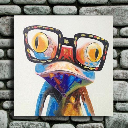 Art Oil Painting modern fashion cute abstract frog No Frame-GKandaa.net