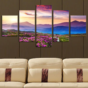 Art Oil Painting 5 Piece(No Frame) The mountain modern Picture HDanzellina.myshopify.com
