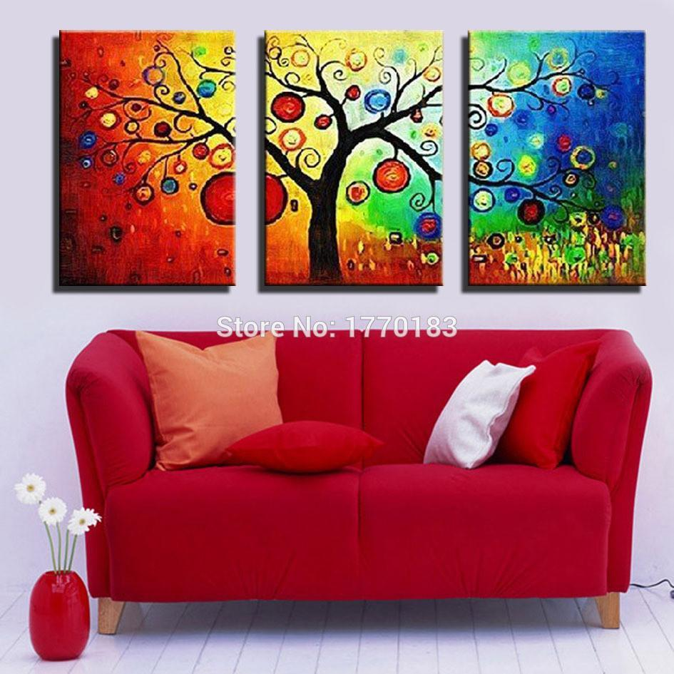 Art Oil Painting 100% home-made modern Tree Abstract 3 No Frame-GKandaa.net
