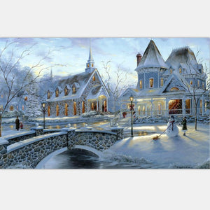 Art Oil Painting DIY Coloring Acrylic knits Sow House 40*50 No Frame-GKandaa.net