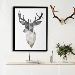 Art Oil Painting Poster Pop Deer able Geometric Frame No Frame-GKandaa.net