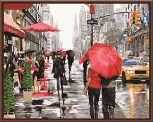 Art Oil Painting City Realist DIY Canvas No Frame-GKandaa.net