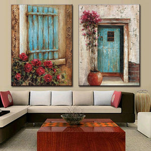 Art Oil Painting 2 Pcs/Set modern Abstract Widow No Frame-GKandaa.net