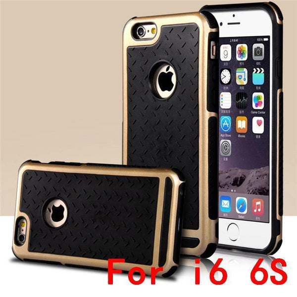 Case Cover for iPhone Ultra n proof Rubber PC TPU Hybrid 5S SE 6 6S-GKandaa.net