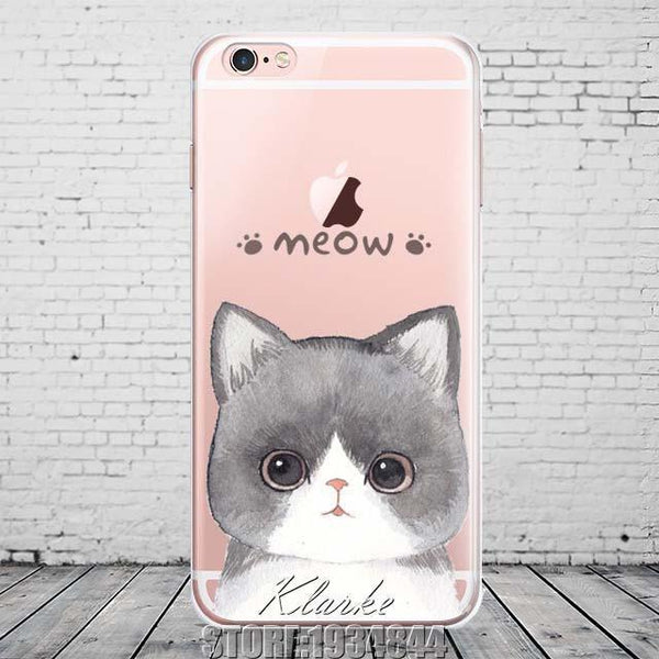 Case Cover for iPhone Cute Cat 6S 5 /5s se 7 7PlusT-GKandaa.net
