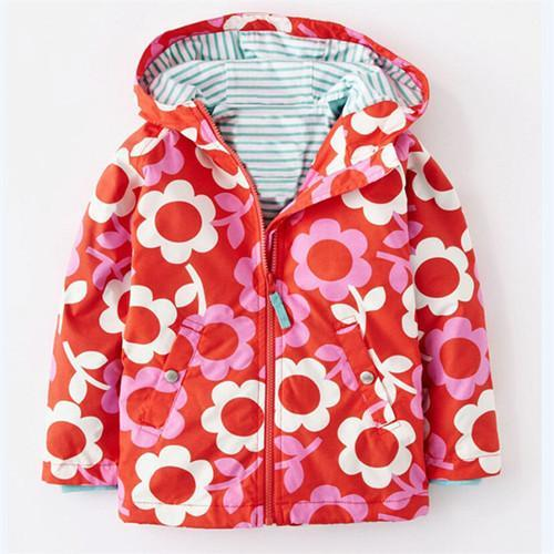 Girls Outerwear Coat jacket Wind Rain in Spring Hooded 0-6 yrs-GKandaa.net