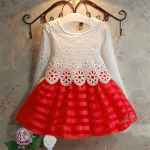 Girl Dress, 3-7Years Toddler Crochet Lace Sleeve wedding - GKandaa.net